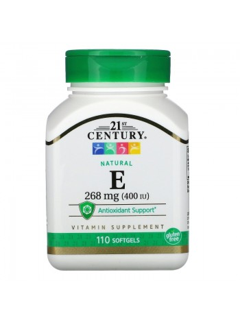 21st Century Vitamin Е 180 мг (400 МЕ) 110 капсул