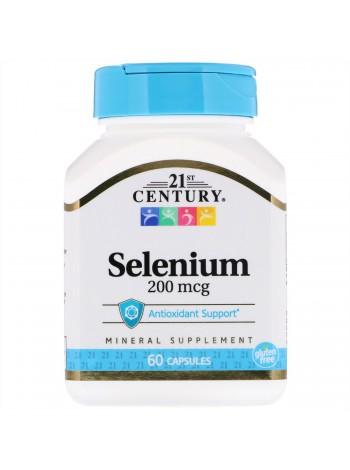 21st CENTURY Selenium - Селен, 200 мкг 60 капсул