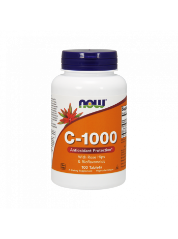 NOW C-1000 with Rose Hips and Bioflavonoids 100 таб