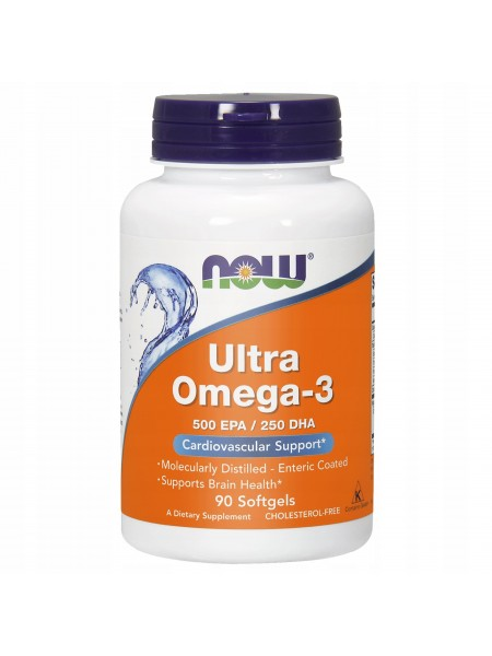 Now Foods, Ultra Omega-3, 90 капсул