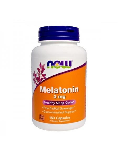 NOW Melatonin 3 mg 180c