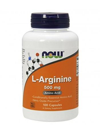 NOW L-Arginine 500mg, 100caps