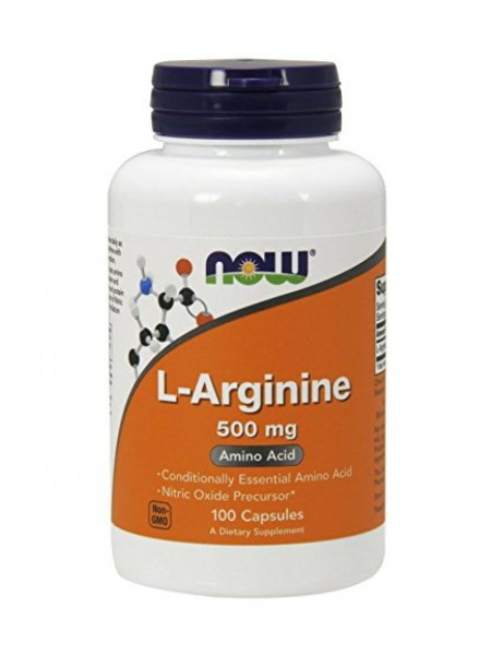 NOW L-Arginine 500mg, 100caps