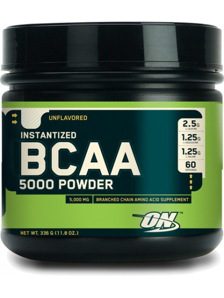 Optimum Nutrition BCAA 5000 Powder - 336 г., без ароматизаторов