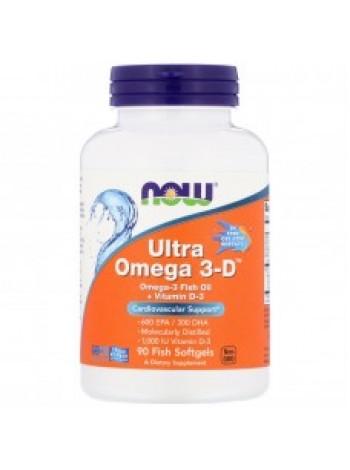 NOW Ultra Omega 3-D 90 капс
