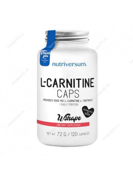 Nutriversum Wshape L-carnitine 120caps