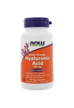 NOW Hyaluronic Acid 100 mg 60 капс