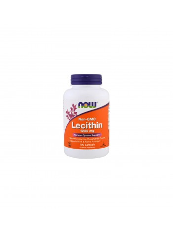 Now Foods  Lecithin 1200 мг, 100 мягких капсул